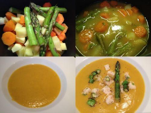 kremna juha s šparglji