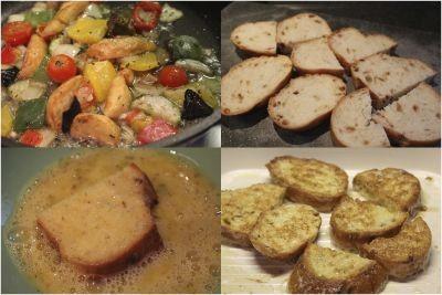 kruh zelenjava priloga