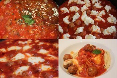 špageti z omako z mesnimi kroglicami