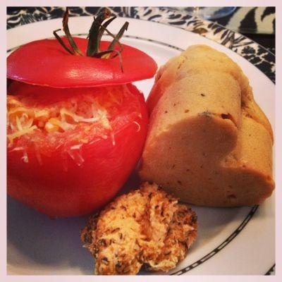 pirini srčki z paradižniki